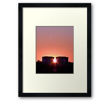 Sunset at Mid Summer Framed Print