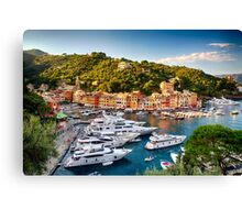 Portofino Harbor in a Summer Afternoon Canvas Print