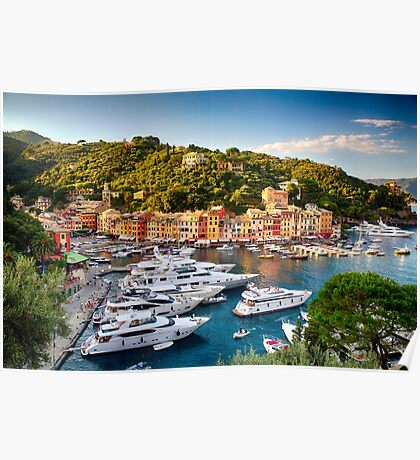 Portofino Harbor in a Summer Afternoon Poster