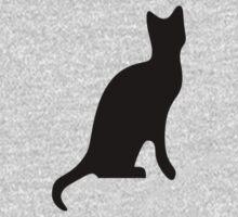 Halloween Black Cat Smooth Silhouette Baby Tee