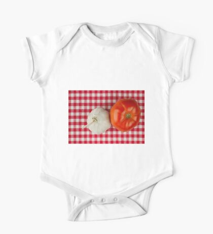 Garlic and Tomato One Piece - Short Sleeve