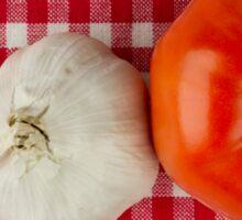 Garlic and Tomato Sticker