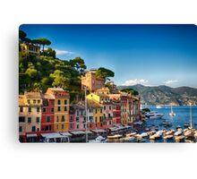 Harbor Houses of Portofino Canvas Print