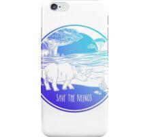 Save the Rhinos! iPhone Case/Skin