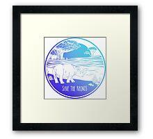 Save the Rhinos! Framed Print