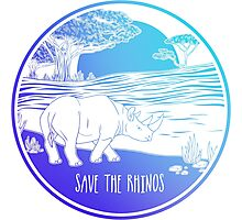 Save the Rhinos! Photographic Print
