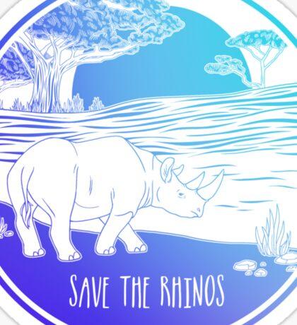 Save the Rhinos! Sticker