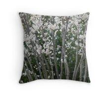 Blooming Branches Throw Pillow