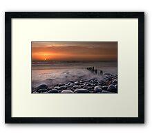 Westward Ho Groyne Framed Print