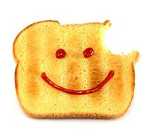 Bread with Happy Face Photographic Print