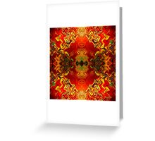RetrOilGlow (signed) Greeting Card