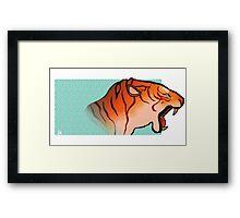 Tiger Fury Framed Print