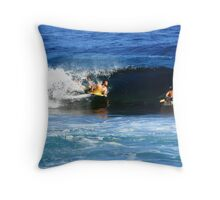 Surfing Puerto Rico Throw Pillow