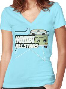 Volkswagen Kombi Tee Shirt - Kombi Allstars Lowlight Women's Fitted V-Neck T-Shirt