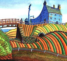 177 - SEATON SLUICE - 01 - DAVE EDWARDS - WATERCOLOUR - 2007 by BLYTHART