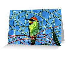 189 - AUSTRALIAN RAINBOW BEE-EATER - DAVE EDWARDS - WATERCOLOUR - 2007 Greeting Card