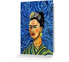 198 - FRIDA KAHLO (COLOURED PENCILS) 2008 Greeting Card