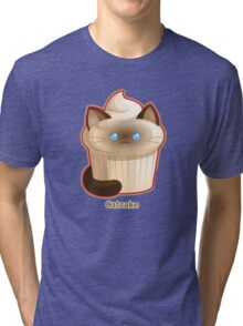 Cute Cat Cupcake Tri-blend T-Shirt