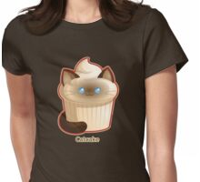 Cute Cat Cupcake Womens Fitted T-Shirt