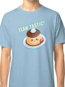 Cute Pun: Flan-tastic Flan Classic T-Shirt