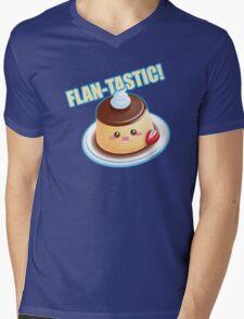 Cute Pun: Flan-tastic Flan Mens V-Neck T-Shirt