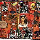 Frida Kahlo Celebrating Dias De La Muerte.. by RobynLee