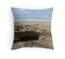 Newgale Foreshore Throw Pillow