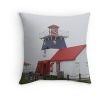 Acadian lighthouse Throw Pillow