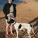 Darcy & her English Pointer Oscar by Cathie Brooker