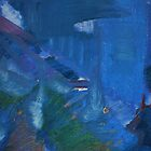 City Landscape : City Nuances in Blue by Lozzar Flowers & Art