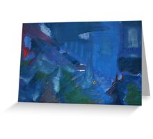 City Landscape : City Nuances in Blue Greeting Card