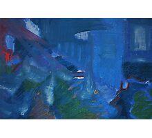 City Landscape : City Nuances in Blue Photographic Print