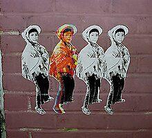 Four Boys Wheat paste NYC series  by Felipe Garcia