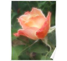 Fractal Budding Rose Poster