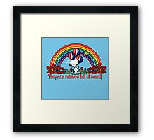 Rainbow Full of Sound Framed Print