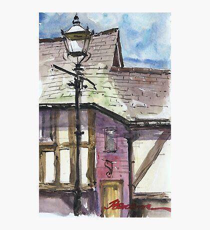Lamp posts of Shrewsbury Photographic Print