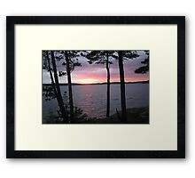 Sunset Over  Lake CatchaComa 1 Framed Print