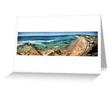 Bar Beach panorama Greeting Card