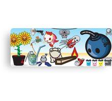 mikoto's 2nd birthday banner  Canvas Print