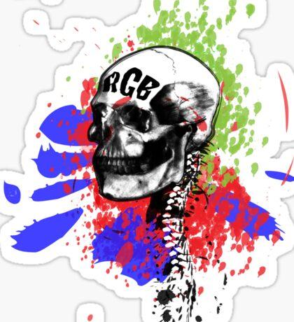 RGB Skull Sticker