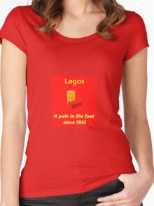 Legos - Destroying Feet Women's Fitted Scoop T-Shirt