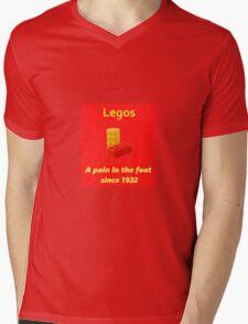 Legos - Destroying Feet Mens V-Neck T-Shirt