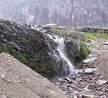 Waterfall, Glacier National Park, Montana by 'ö-Dzin Tridral