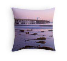 Goleta Beach Pier Throw Pillow
