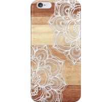 White Doodles on Blonde Wood iPhone Case/Skin