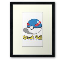The Great Ball Framed Print