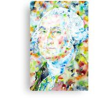 GEORGE WASHINGTON - watercolor portrait Canvas Print