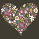 Spring Flowers Valentine Heart 2  by fatfatin