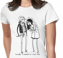 Tourettes Is Awkward. Womens Fitted T-Shirt