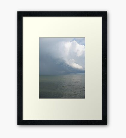 Sea and cloud Framed Print
